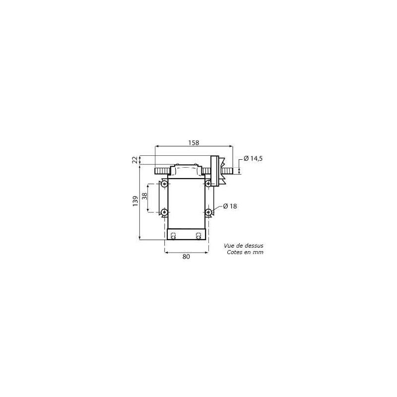 Pompe de transfert en inox alimentaire - 12V
