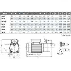 Pompe de transfert laiton - 230V - 0.37kW