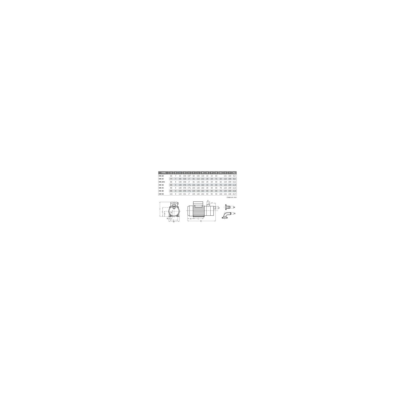 Pompe de transfert laiton - 380V - 0.42kW