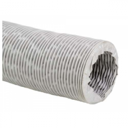 Gaine de ventilation en tissu fibre de verre revêtue de PVC Ø102