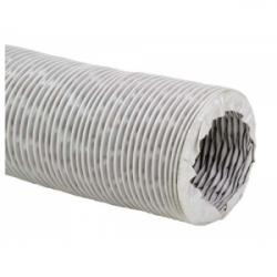 Gaine de ventilation en tissu fibre de verre revêtue de PVC Ø127