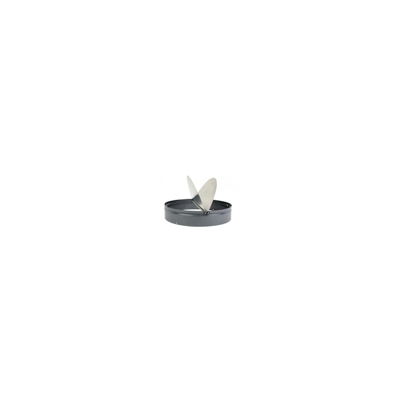 Volet horizontal automatique de surpression métallique-fonctionnement par gravité Ø45