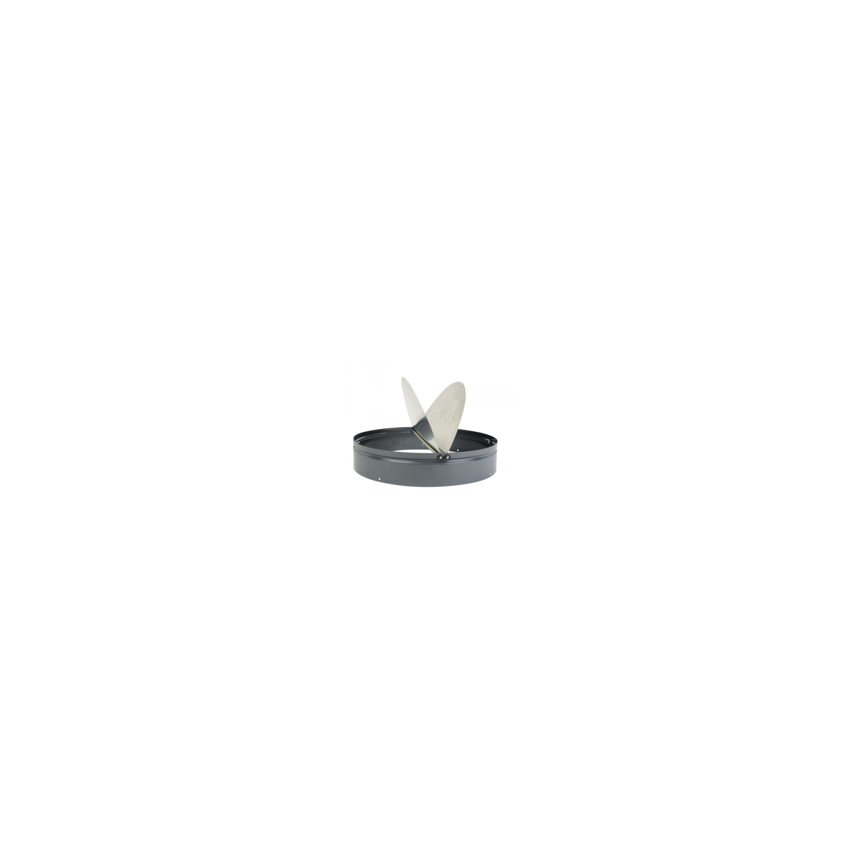 Volet horizontal automatique de surpression métallique-fonctionnement par gravité Ø56