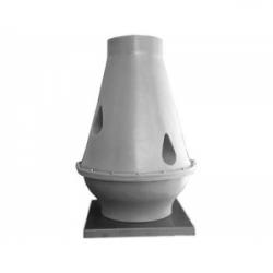 Tourelle toiture centrifuge à jet vertical en polypropylène Ø25M2
