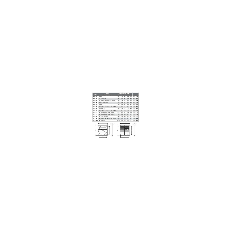 Volet automatique PVC Ø100