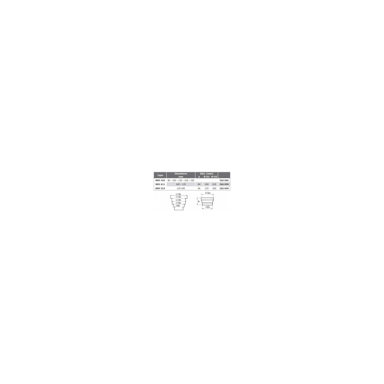 Réduction pour gaine AluG Ø312