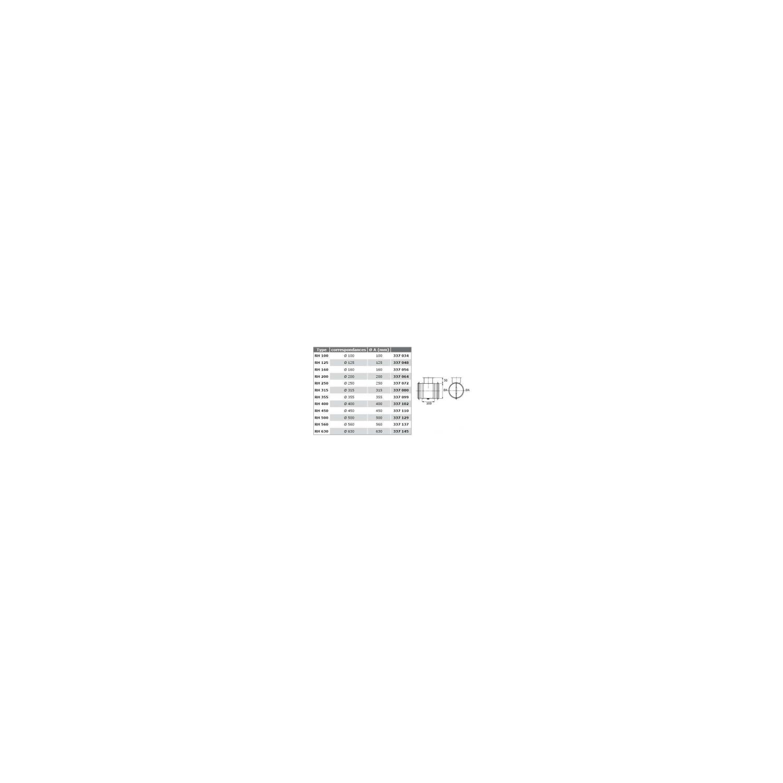 Registre manuel de régulation hermétique Ø500