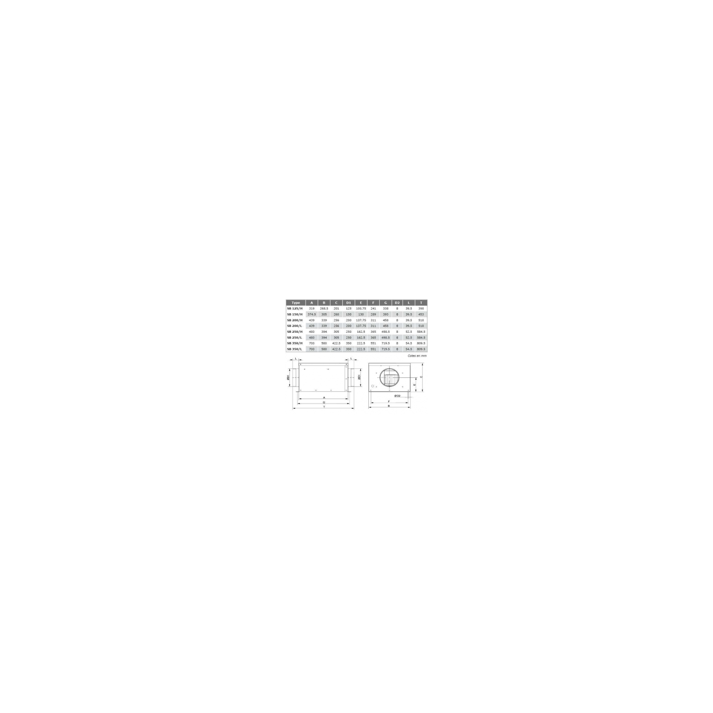 Ventilateur en ligne, en caisson insonorisé SB  Ø200H