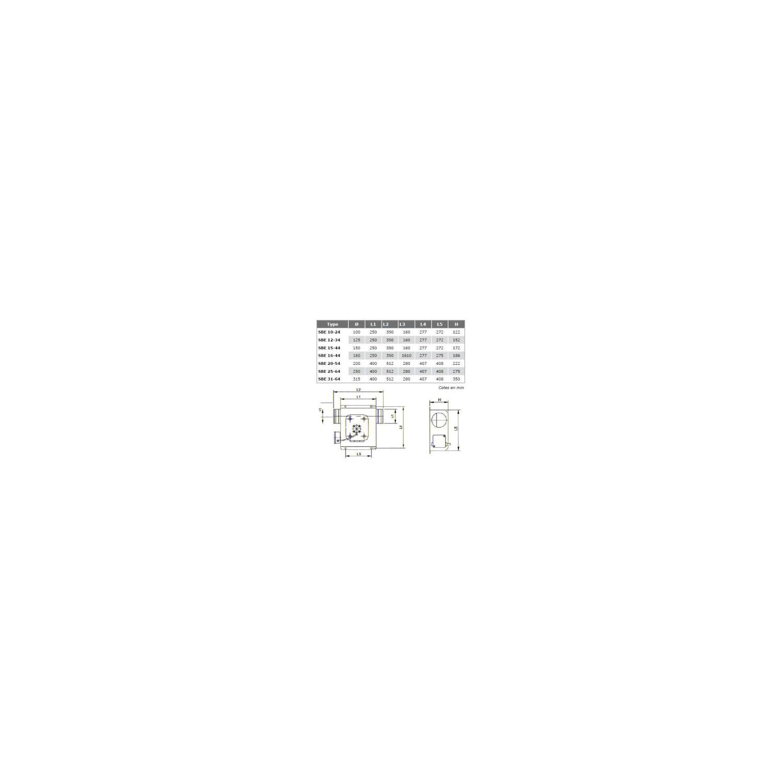 Ventilateur en ligne, en caisson BE  Ø1644
