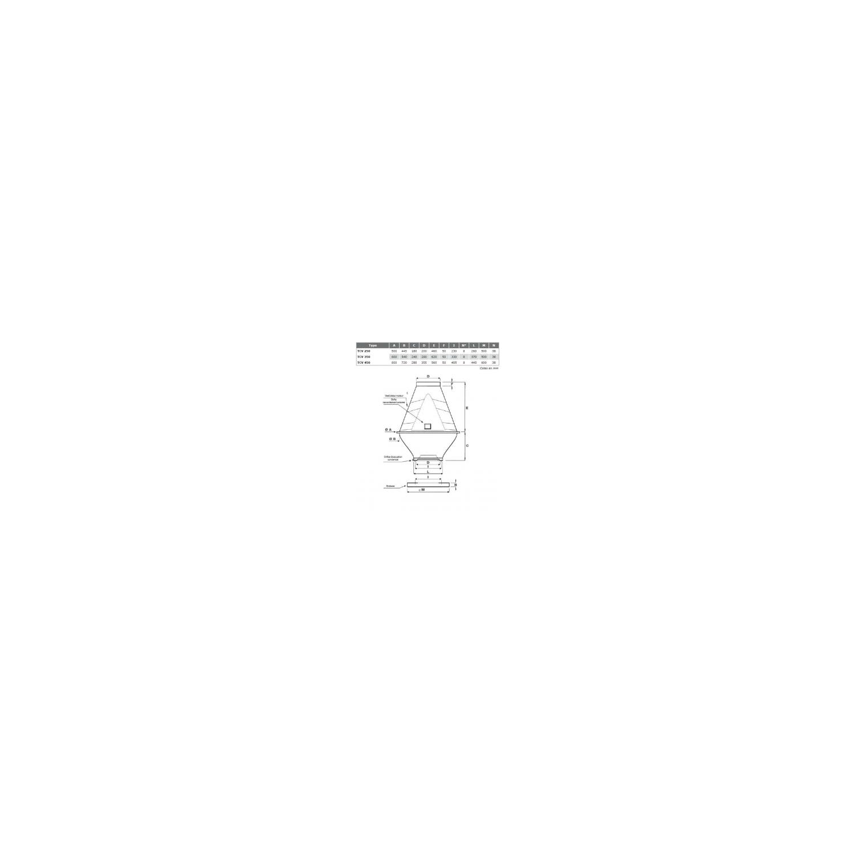 Tourelle toiture centrifuge à jet vertical en polypropylène Ø35T6