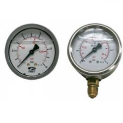 """Mano. à bain d'huile Axial 0-10bars 1/4"""" GAS"""