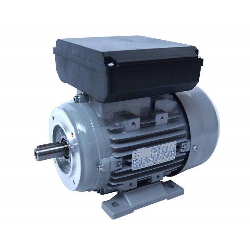 Moteur electrique 220v monophasé 0.55kW, 1000 tr/min, B14