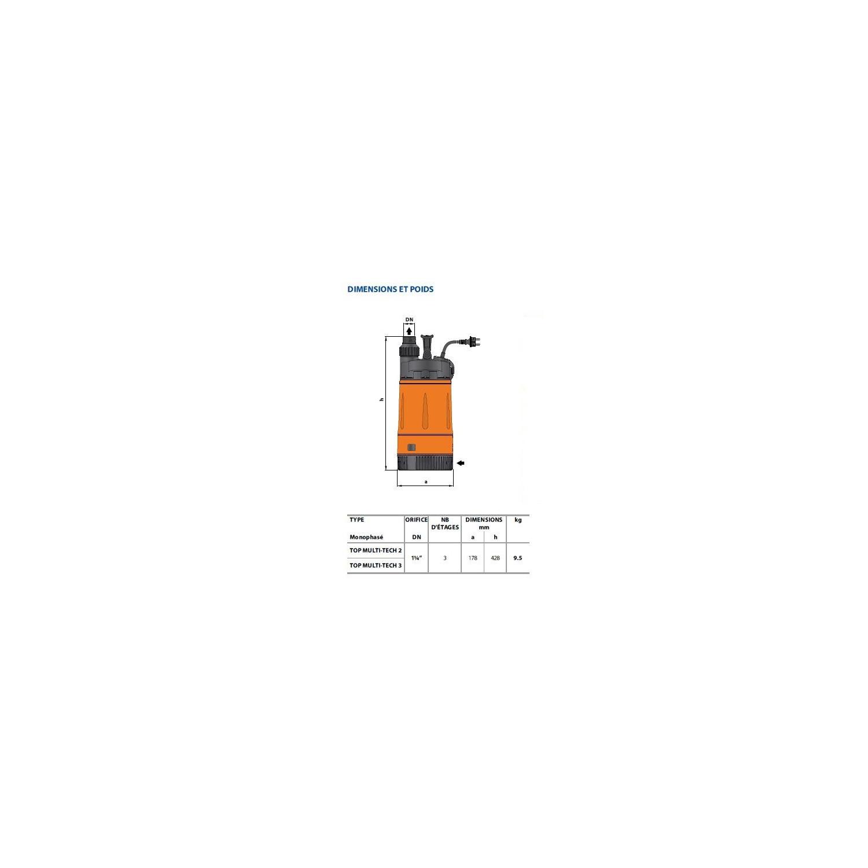 Pompe immergée - 230V - 0.55Kw Multi 3