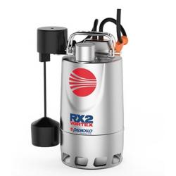 Pompe de relevage eaux pluviales Inox 0.37Kw - 180L/min - Vortex a flotteur vert.