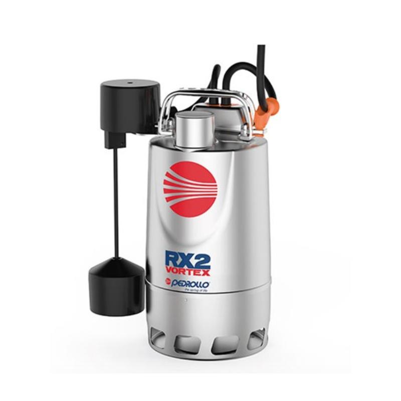 Pompe de relevage eaux pluviales Inox monophasé 220V - 0.37Kw - 180L/min - roue Vortex a flotteur vertical