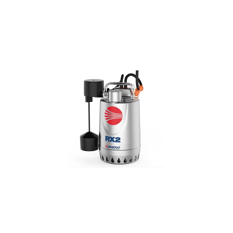 Pompe de relevage eaux pluviales inox 0.55Kw 180L/min avec flotteur vert.