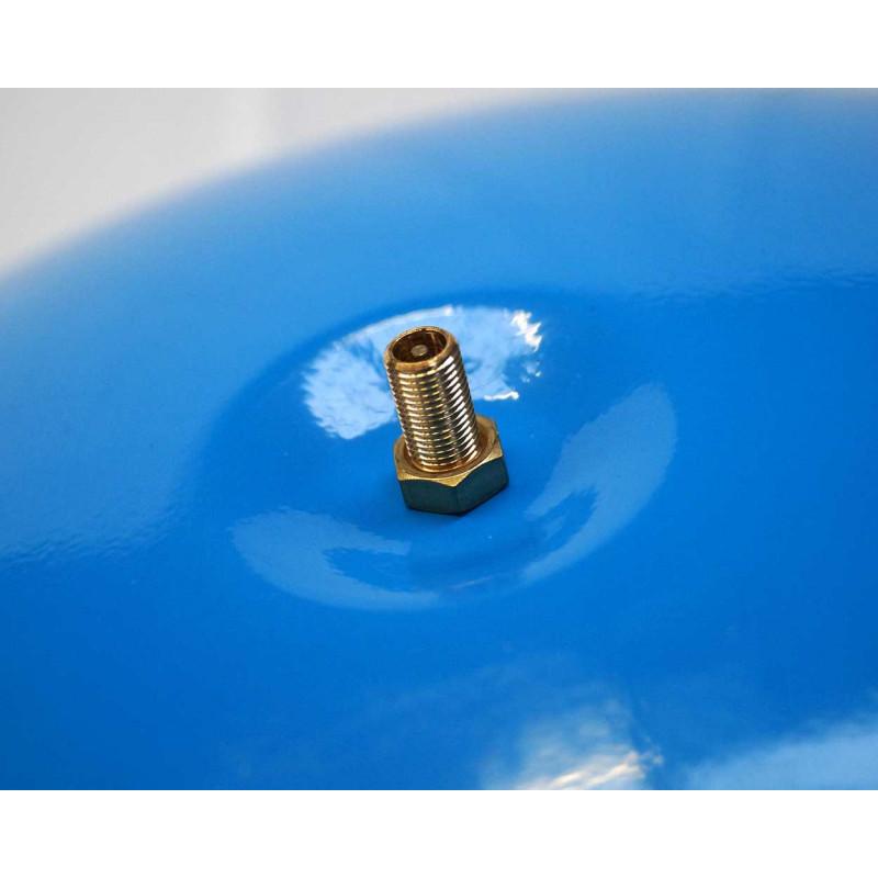 """KIT Reservoir horizontal 24 litres-raccord 5 voie 1""""-clapet pied de crépine- manomètre-préssostat"""