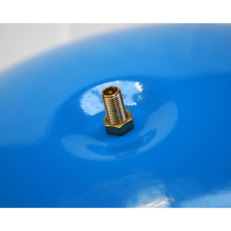 """KIT Reservoir horizontal 80 litres-raccord 5 voie 1""""-clapet pied de crépine- manomètre-préssostat"""
