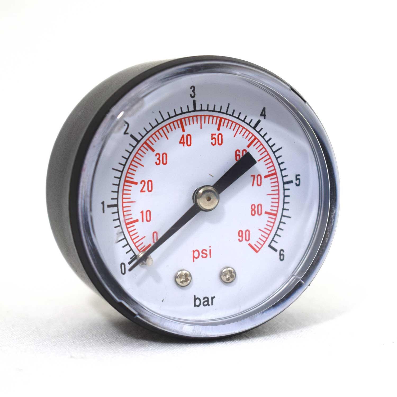 """Manomètre sec Axial 0 - 6 bars 1/4"""" GAS"""