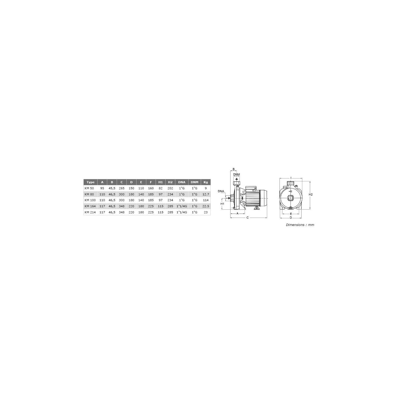 """Pompe de surface centrifuge 380V - 1.1kW - 1""""1/2"""