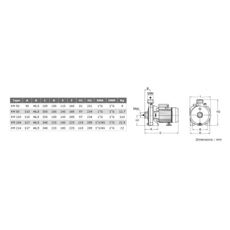 """Pompe de surface centrifuge 380V - 3kW - 4"""""""